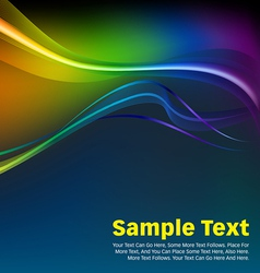 Colorful Waves and Lines Background vector image vector image