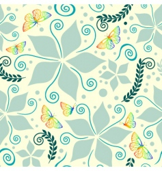 nature pattern on vanilla background vector image vector image
