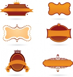 old style labels vector image