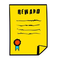 reward icon icon cartoon vector image vector image