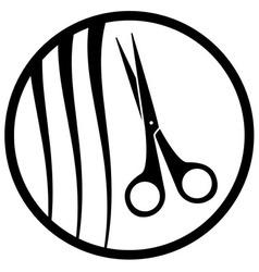 round hair salon icon vector image