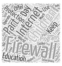 BWI about firewalls and free software Word Cloud vector image