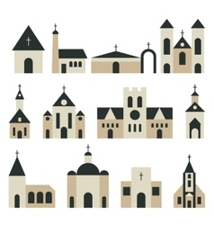 Christian church with basilica and tower vector image