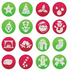 christmass icon set vector image vector image
