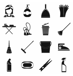 Cleaning simple icons vector image vector image