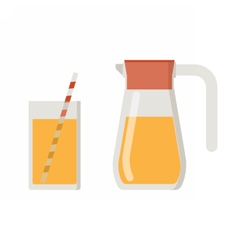 Juice Jug and Mug vector image