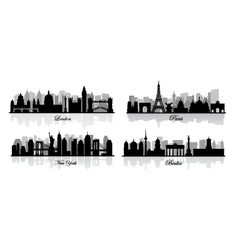 london new york berlin and paris vector image
