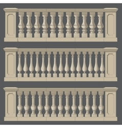 Outdoor and park elements balustrade set of vector image vector image