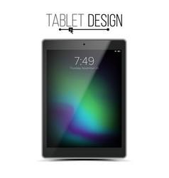 tablet mockup design black modern trendy vector image
