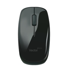 black computer mouse on a white background vector image