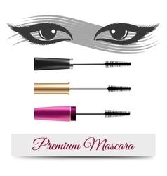 Eyes mascara smear and banner vector image