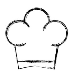hat chef isolated icon vector image