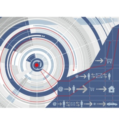 Internet Technology Background vector image