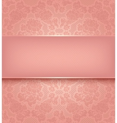 lace template ornamental pink flowers background vector image vector image