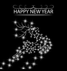 new year s christmas card an abstract silhouette vector image vector image