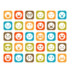 Set of smiley icons vector