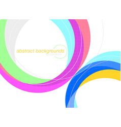 abstract colorful curved scene on a white vector image