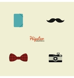 Abstract hipster objects vector image