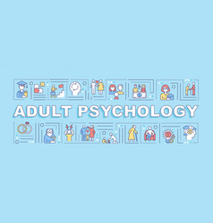 Adult psychology word concepts banner vector