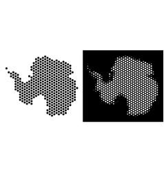 Antarctica map hex-tile abstraction vector