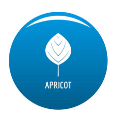 apricot leaf icon blue vector image