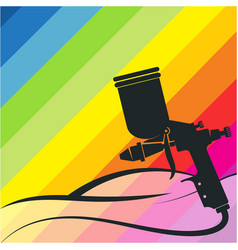 Auto spray gun symbol painting vector