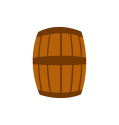 beer barrel glass vector image