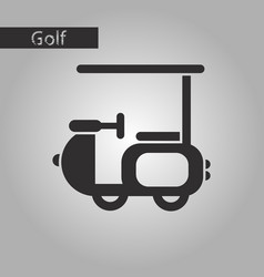 black and white style icon golf machine vector image