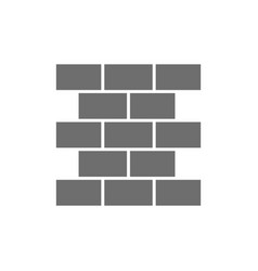 bricks wall brickwork grey icon isolated vector image