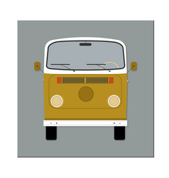 bus front view flat design vector image