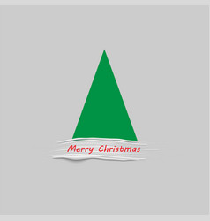 christmas tree stylized with white paint brush vector image