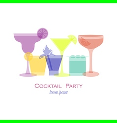 Cocktail opacity vector