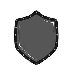 comic heraldry shield icon vector image