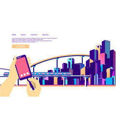 Concept city navigation vector