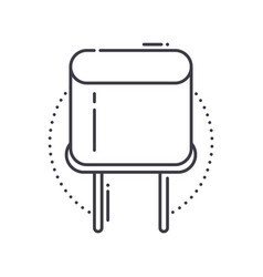 Crystal conductor icon linear isolated vector