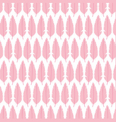 cute bohemian feathers pattern background vector image