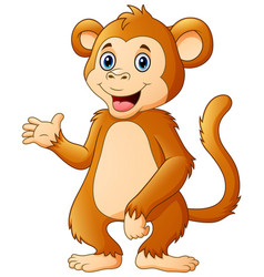 cute chimpanzee cartoon vector image