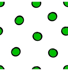 Cute seamless pattern with green circles vector