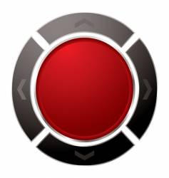 direction button vector image vector image
