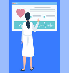 doctor with new technologies in medicine vector image