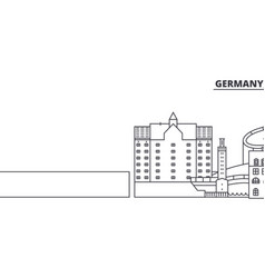 Germany duisburg line skyline vector