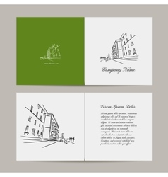 Greeting card cityscape design vector image