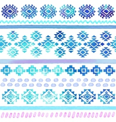 hand drawn watercolor tribal seamless vector image