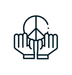 hands holding symbol peace and love human rights vector image