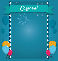 happy carnaval card vector image