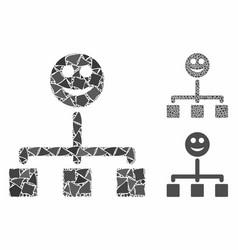happy hierarchy composition icon tuberous vector image