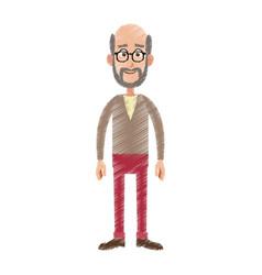 Happy man cartoon icon image vector
