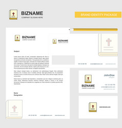 Holy bible business letterhead envelope and vector
