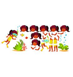 indian girl kindergarten kid hindu vector image