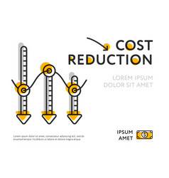 Infographic poster for cost reduction image vector